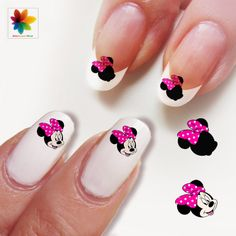 Valentine DayDisney nail art cartoon by Nailsgraphicworld on Etsy, $5.90