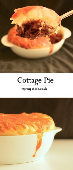 My delicious cottage pie recipe - Beef and root vegetables in a rich gravy topped with mashed potatoes and melted cheese.