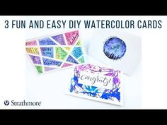 Give these 3 fun & easy diy watercolor cards a try! art tips Watercolor Art Face, Watercolor Cards, Mixed Media Cards, Diy Cards, Handmade Cards, Inspirational Wallpapers, Watercolour Tutorials, Pen And Paper, Art Tips