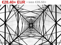 Photography //  Industrial high voltage pylon like fractal. Black and white and geometry €28.40 via @shopseen