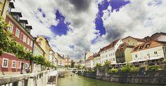 pueblo, río, casas, agua, nubes - Fondos de Pantalla HD - professor-falken.com