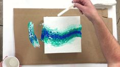 """Triple Canvas"" Fluid Painting Clean Pour with Swipe Technique using Acrylic & Silicone - YouTube"