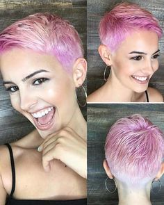 32 Fantastic Pink Short Pixie Haircuts for Women 2018. Pixie is considered one of the most daring and bold haircuts in these days. Women of all age groups like to sport it. Because of its easy and trendy hair looks it is gaining popularity day by day. You can see here we have presented in this post the modern looks of short pixie haircuts with pink hair colors to show off in 2018.
