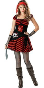 gold graduation balloon weight teen girl costumesteen halloween costumespirate - Teenage Girl Pirate Halloween Costumes