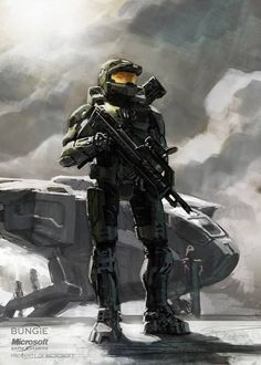 Master Chief - HALO - Isaac Hannaford Sometimes I forget that he's like, 7 feet tall Halo Game, Halo 3, Star Citizen, Assassins Creed, Science Fiction, Halo Spartan, Halo Collection, Halo Master Chief, Halo Series