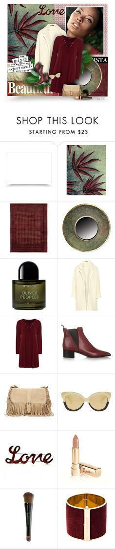 """Oxblood"" by carmenecheve ❤ liked on Polyvore featuring NOVICA, Byredo, Maje, Dorothy Perkins, Acne Studios, Linda Farrow, Kate Spade, Dolce&Gabbana, Bobbi Brown Cosmetics and Dsquared2"