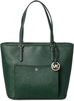 5f0127b94 Michael Kors 30S6GTTT3L-309 Snap Pocket Saffiano Tote Bag for Women -  Leaer, Moss