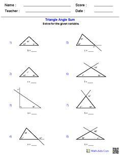 Geometry Angle Relationships Worksheet Answer Key