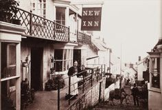 """askhistorians: """" A photographic view of the New Inn boarding house, in Clovelly, Devon, United Kingdom. Clovelly is an ancient fishing village. There has only ever been pedestrian access. Everyday Holidays, Weird Holidays, Boarding House, Real Relationships, Fishing Villages, Pedestrian, Family History, Devon, Abandoned"""