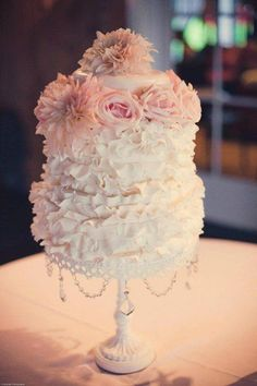 white & pink ruffled cakes - Yahoo Image Search Results