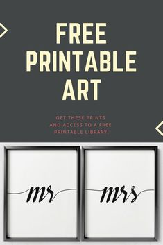 FREE printable wall art! These designs + access to the freebie library.