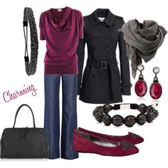 A fashion look from February 2012 featuring fuchsia tops, Reiss and button-fly jeans. Browse and shop related looks. Winter Typ, Winter Mode, Dark Winter, Deep Winter Palette, Deep Winter Colors, Winter Looks, Feminine Style, Feminine Fashion, Complete Outfits