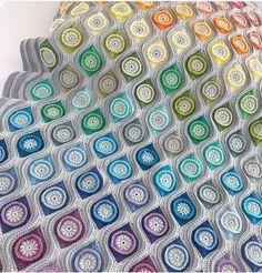 Crochet Square Blanket, Crochet Squares, Chrochet, Pattern, Plaid, Crocheted Afghans, Tricot, Crochet, Gingham