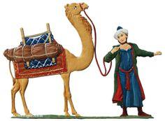 Tjänare med kamel Berliner Zinnfiguren & Preussisches Buecherkabinett