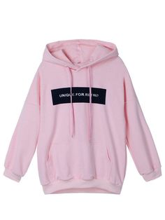 Buy Casual Women Letter Printed Pocket Loose Hooded Sweatshirt AYThis hoodie is Made To Order, one by one printed so we can control the quality. We use newest DTG Technology to print on to Casual Women Letter Printed Pocket Loose Hooded Sweatshirt AY Hooded Long Sleeve Shirt, Long Sleeve Shirts, Sports Hoodies, Pink Hoodies, Cotton Hoodies, Pink Long Sleeve Tops, Loose Fitting Tops, Loose Tops, Hooded Sweatshirts