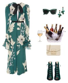 """Girls Trip: Wine Tasting!"" by sebolita ❤ liked on Polyvore featuring Gianvito Rossi, Lizzie Fortunato, Furla, Prodyne and Marc Blackwell"