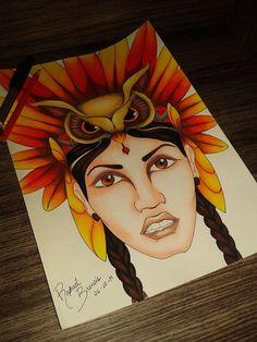 Essa índia de lábios carnudos, feita com a alma, foi a inspiração de um poema lindo, digno de admiração, feito por Mariana Gil: Anauá. http://maregil.blogspot.com.br/2014/10/anaua.html