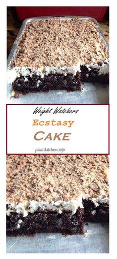 Ecstasy Cake Simple, easy and delicious! A good dessert // weight_watchers // pointskitchen // Recipes // weightwatchers // food // healthyfood // smartpoints // smart_points // skinny // Family // Health 695735842419574270 Ww Recipes, Skinny Recipes, Gourmet Recipes, Cake Recipes, Cooking Recipes, Easy Cooking, Ww Desserts, Healthy Dessert Recipes, Chocolate Desserts