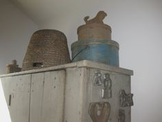 Antique Bee Skep.Early Farm House Primitives.