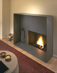 """Fireplace inspiration Elegant thin steel frame gives new meaning to """"firebox"""" -- by Mark Horton Architecture House Elements, House, Rustic Fall Decor, Home Fireplace, Fireplace Design, Multipurpose Room, Living Room Wall Units, Interior Design, Fireplace"""