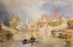 size: Giclee Print: Worcester Cathedral by J. M. Turner : This exceptional art print was made using a sophisticated giclée printing process, which deliver pure, rich color and remarkable detail. Turner Watercolors, Worcester Cathedral, Turner Painting, Joseph Mallord William Turner, Pastel, English Artists, Canvas Prints, Art Prints, British Museum