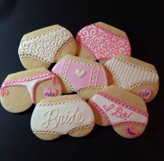 Cute Sexy Lingerie Decorated Sugar Cookies - 12 Pieces by KJ Cookies on Gourmly