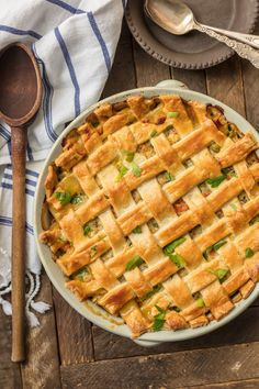 Butternut squash chicken pot pie hearty and healthy jeff mauro chicken pot pie casserole forumfinder Image collections