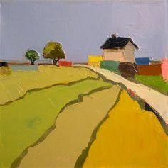 """Farmhouse Color"" - Original Fine Art for Sale - © Donna Walker"