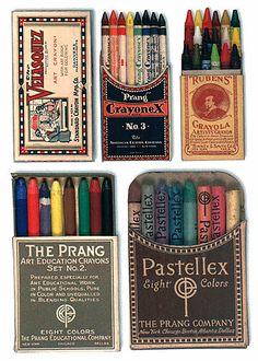 beautiful packaging: vintage crayons.