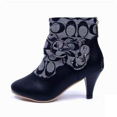 Coach Bowknot Signature Grey Booties CQM Give You The Best feeling!