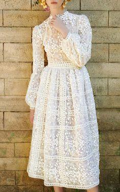 Costarellos Bridal Tea Length Dress #wedding #bridal #affiliate