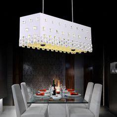 Creative Fashion LED Crystal Dining Room Pendant Lamp Study Room Pendant Lamp Bedroom Pendant Lamp