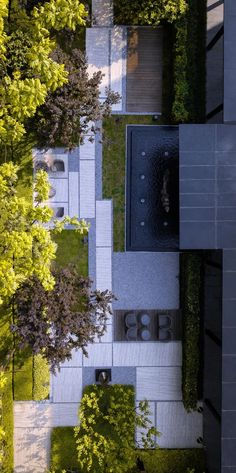 Landscape line @ 秋 豆 麻袋 Collected landscape photos) _ petals Courtyard Landscaping, Courtyard Design, Front Yard Landscaping, Garden Design, Landscape Stairs, Landscape And Urbanism, Landscape Design, Contemporary Landscape, Urban Landscape