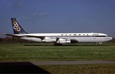 Olympic Airways Boeing (City of Thebes - Θήβες) [SX-DBP] at Hamburg airport in 1987 Boeing 707, Boeing Aircraft, Jets, Mercury, Illinois, Olympic Airlines, Commercial Aircraft, Civil Aviation, Diesel Locomotive