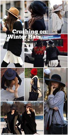 winter hats + beanies _ glitterinc.com #streetstyle