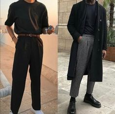 streetwear fashion Mens Fashion Outfit in Black. Trending Black Clothing Ideas for Men. Mode Outfits, Fashion Outfits, Fashion Trends, Fashion Ideas, Guy Outfits, Fashion Guide, Fashion Websites, Fashion Stores, Skirt Outfits