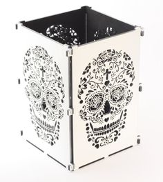 Sugar Skull, Hot Pink Sugar Skull Light Box, Candle Box, Candle Holder, Day Of the Dead, Dia De Los Muertos, Mexican Sugar Skull  This sugar skull light box is classy yet edgy and will make an ideal and unusual gift. So effective by night and a great centrepiece by day, its a winner. Available in white, black, natural, green, hot pink, purple and orange they are sure to fit into any house with any decor. These light boxes come flat packed and can be easily assembled in seconds.  Standing…