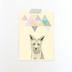 Carte postale simple Renard