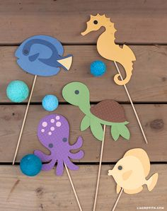 Under the sea photo props from Lia Griffith Ocean_Animal_Photo_Props