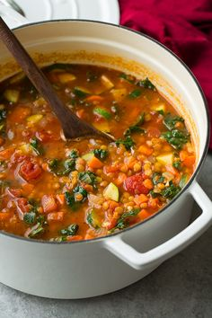 Italian Vegetable Lentil Soup - Cooking Classy