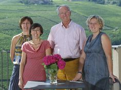 The Rocca sisters – Daniela, Monica and Paola – with their late father and Barbaresco visionary Angelo Rocca.