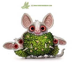 Daily Paint 1297. Bushbabies by Cryptid-Creations.deviantart.com on @DeviantArt