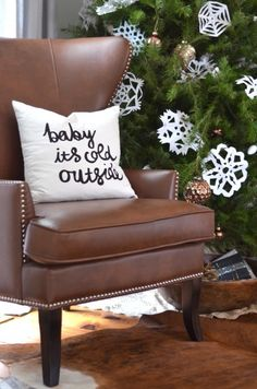 Baby It's Cold Outside Pillow // Nesting Place