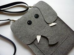 Elephant MacBook Pro 15 inch sleeve  Gray felt  MADE by BoutiqueID, I need this in my life.