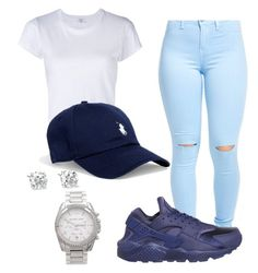 """Untitled #6"" by dtrapqueen on Polyvore featuring NIKE, RE/DONE, Ralph Lauren and Michael Kors"