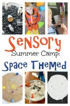 Wanting to do a backyard DIY Sensory Summer Camp? Try this space theme! Little astronauts will LOVE it!
