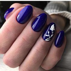 Ideas nails 2018 trends long for 2019 Matte Pink Nails, Oval Nails, Blue Nails, Nail Art Design Gallery, Best Nail Art Designs, Long Round Nails, Long Nails, Round Shaped Nails, Nails 2018