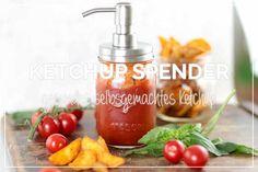 Unser gesunder, selbst gemachter Balsamico Ketchup kann im Mason Jar super leicht dosiert werden - dafür einfach die Pumpe aufschrauben und loslegen!