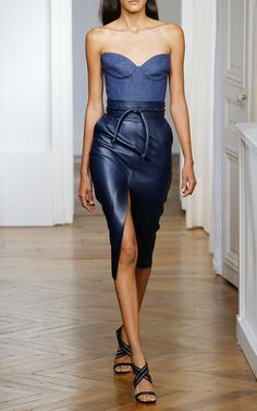 Belted Leather Pencil Skirt by MARTIN GRANT for Preorder on Moda Operandi