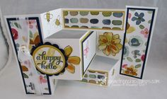 Stamp & Scrap with Frenchie: Tri Shutter Fold card